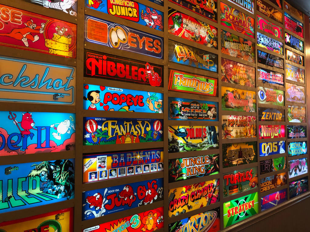 The wall of video game marquees
