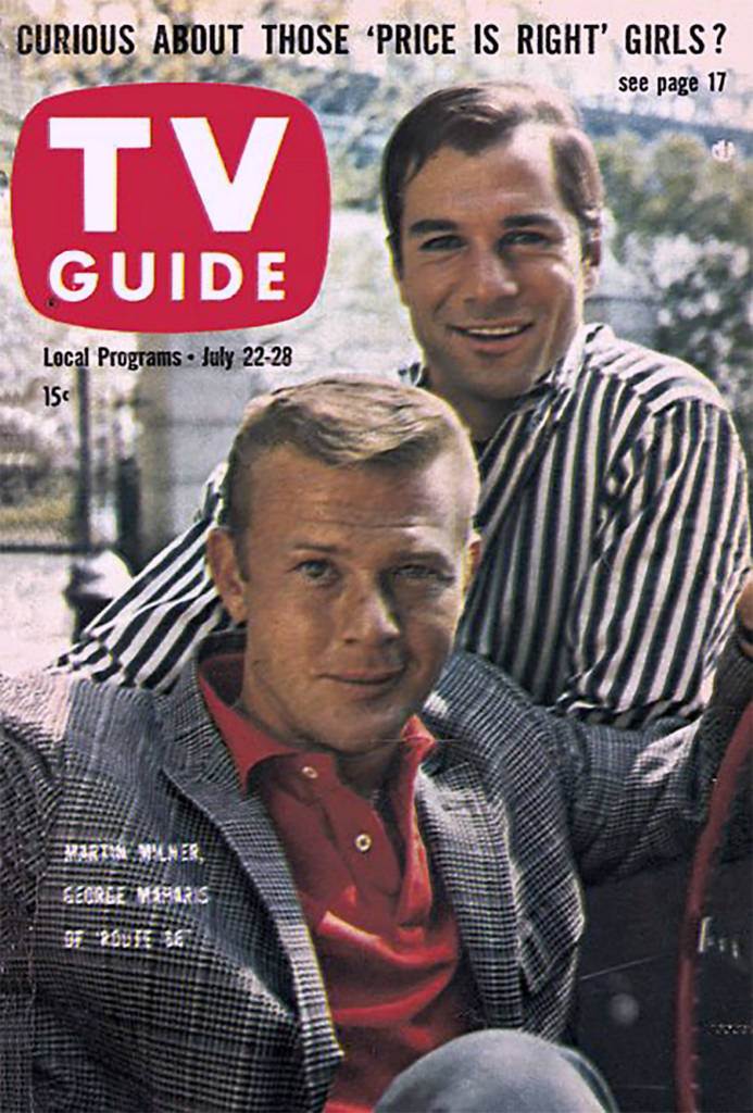 The stars of the Route 66 TV Series on the cover of TV Guide