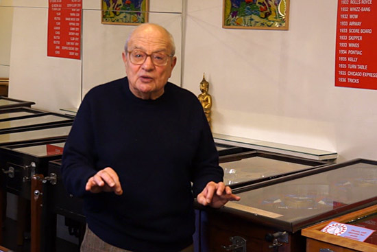 Raphaël Lankar of the Paris Pinball Museum