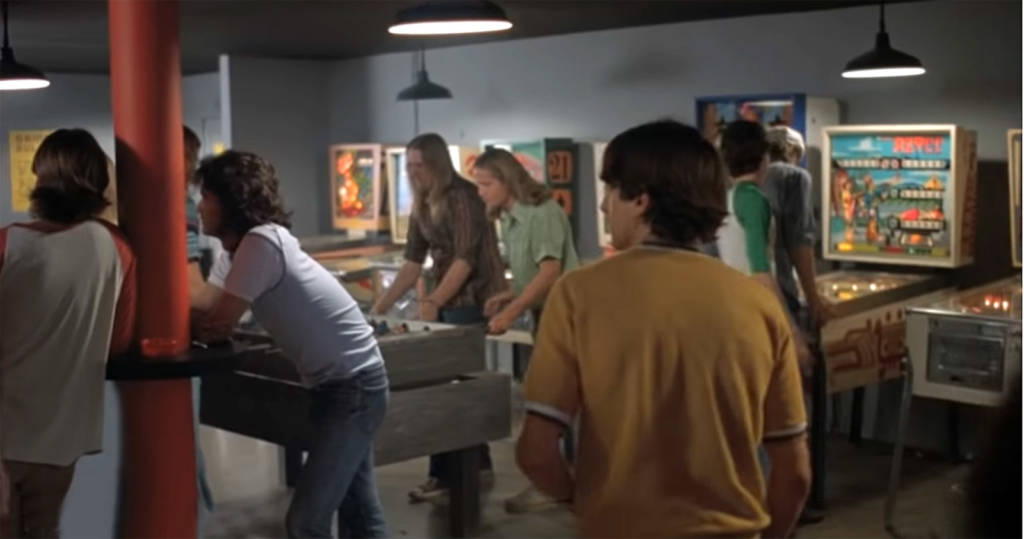 Numerous pinballs in this scene from Dazed and Confused