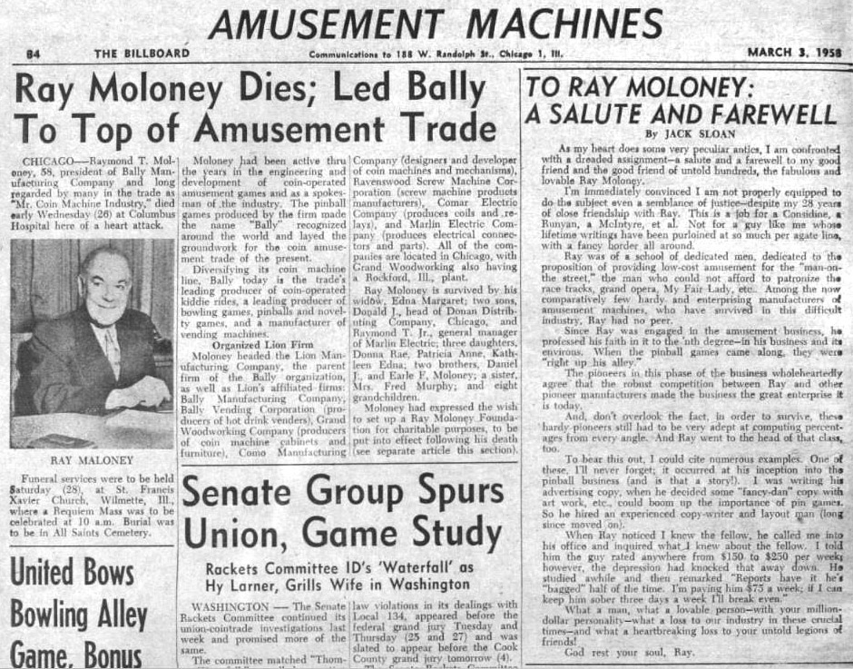 Billboard from 3rd March, 1958
