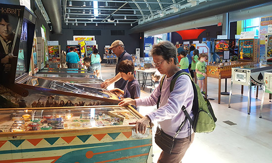 Thirty-three pinballs at the exhibition are available to play