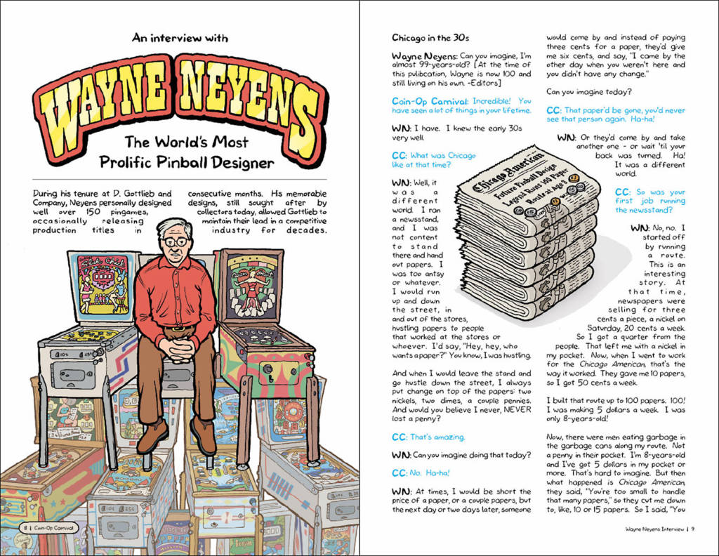 The featured game designer in the first issue is Wayne Neyens