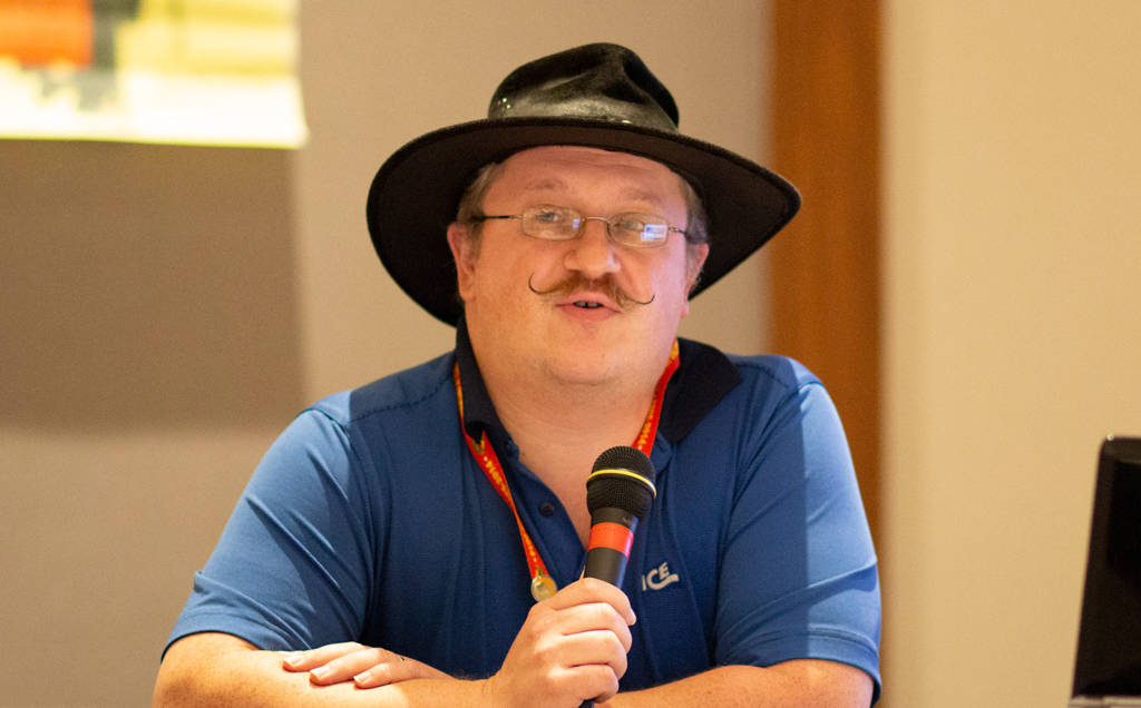 David Fix taking part in the Pinball Expo seminars