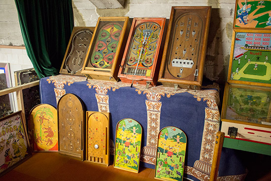 A display of pre-flipper games