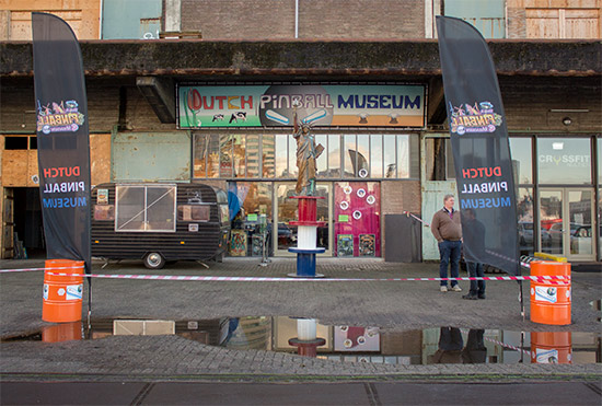 The exterior of the Dutch Pinball Mueum