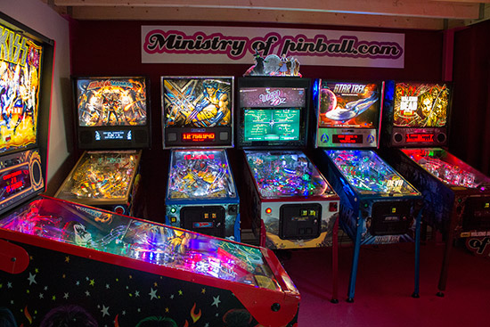 Ministry of Pinball's showroom