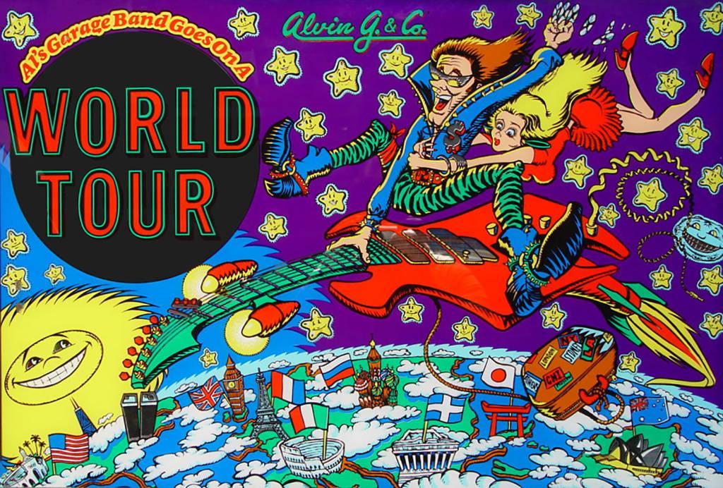 The Alvin G. game's backglass artwork
