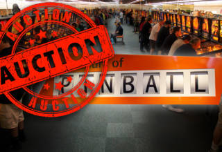 The auction at the Museum of Pinball