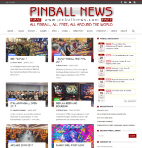 The new Pinball News website