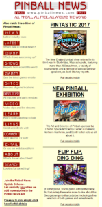 The old Pinball News website