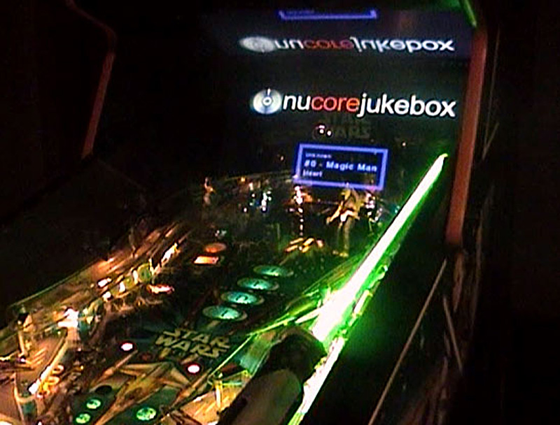 Nucore's jukebox feature on a Star Wars Episode 1 pinball