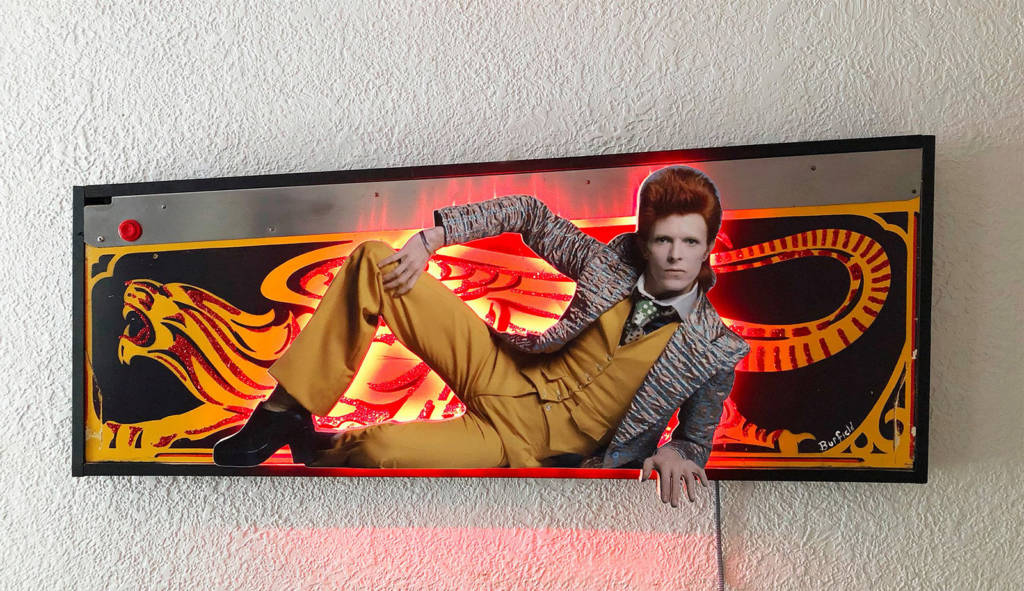 David Bowie's Ziggy Stardust with Lost World cabinet side art