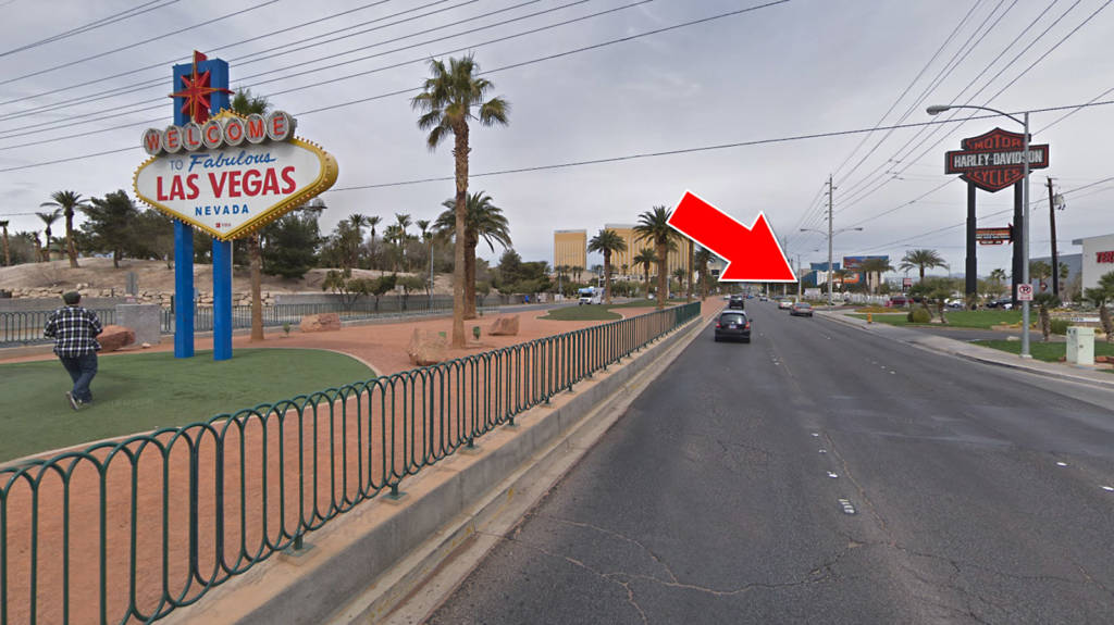 The new PHoF location at 4915 S. Las Vegas Blvd with the Welcome sign (photo: Google Maps)