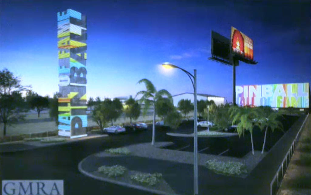 The proposed look for the new Pinball Hall of Fame in Las Vegas