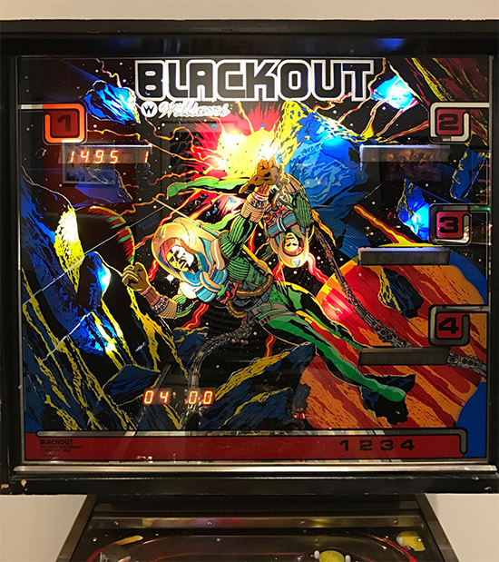 The backglass artwork used in the game