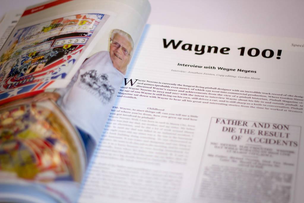The start of Pinball Magazine Editor Jonathan Joosten's extended interview with Wayne