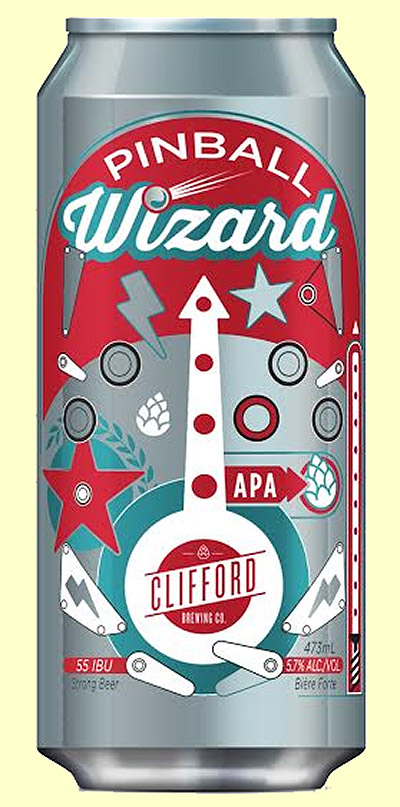 Pinball Wizard beer from Clifford Brewing