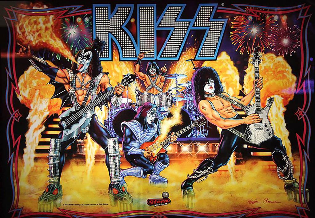 The KISS backbox artwork