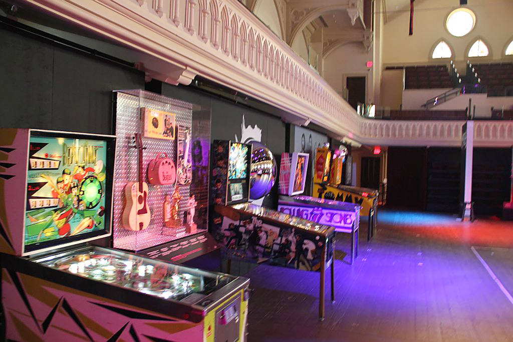 The games with a selection of The Beatles memorabilia