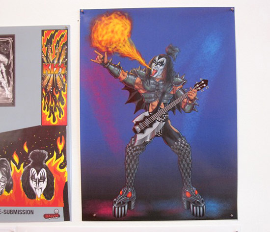 Lots of Kevin O'Connor's Kiss artwork is on display