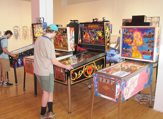 More of the pinballs in the exhibit