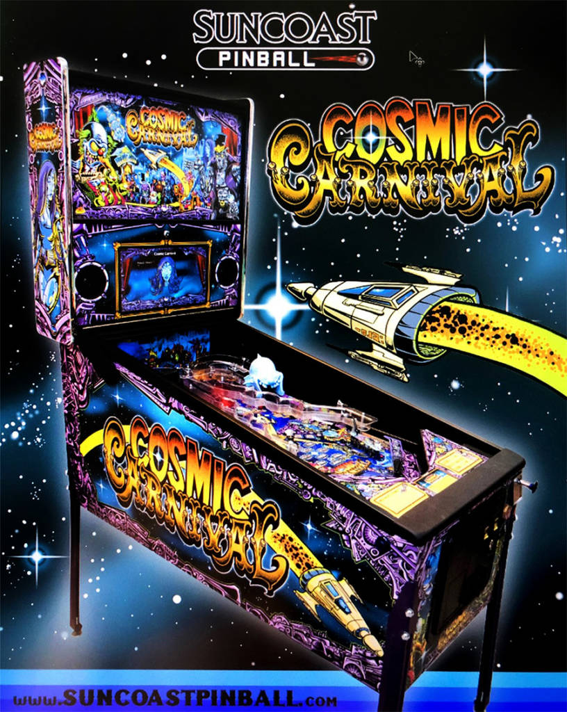 Suncoast Pinball's first title, Cosmic Carnival