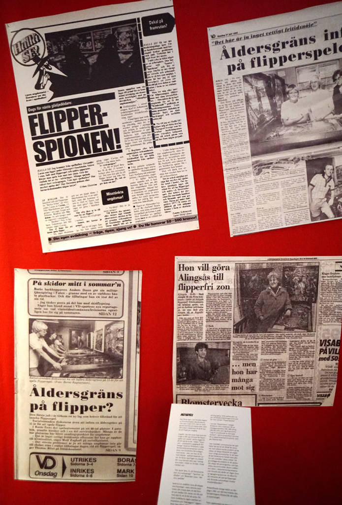 Newspaper clippings from the 1970s and '80s