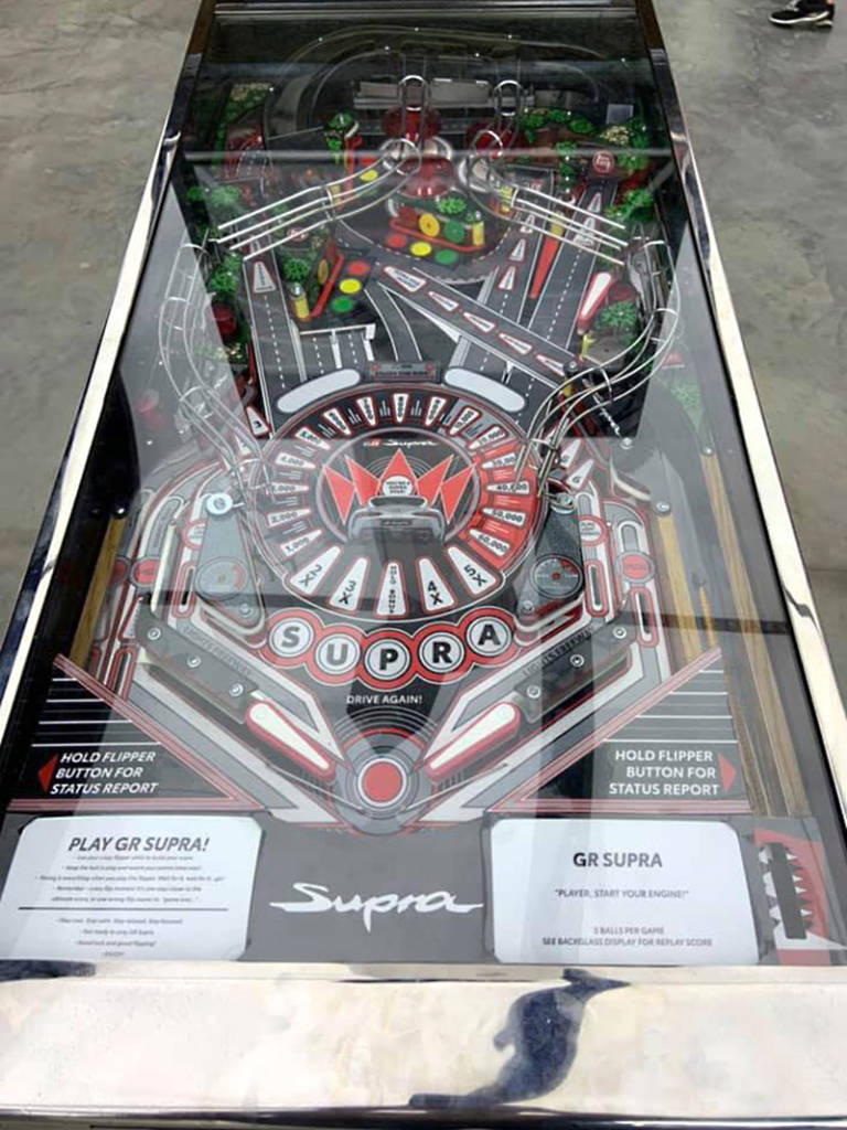 The GR Supra playfield