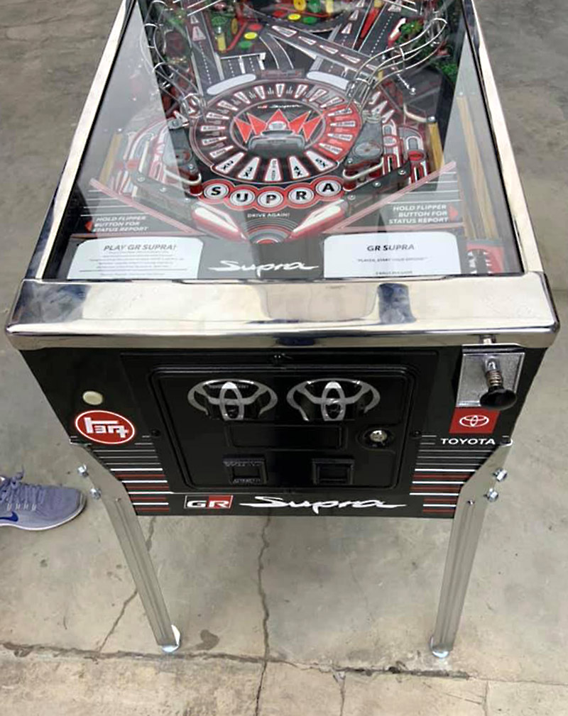 The front of the GR Supra pinball
