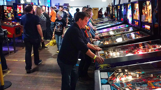 Guests enjoying the machines