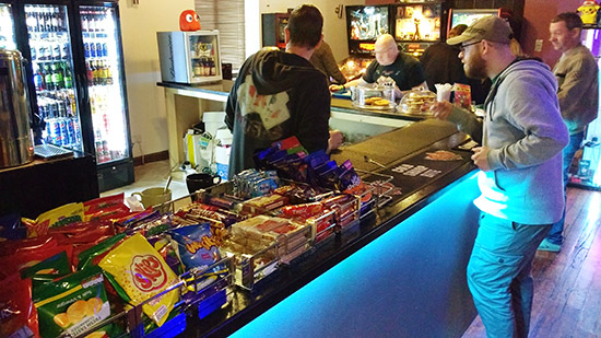 Hot and cold snacks and drinks are available at the cafe