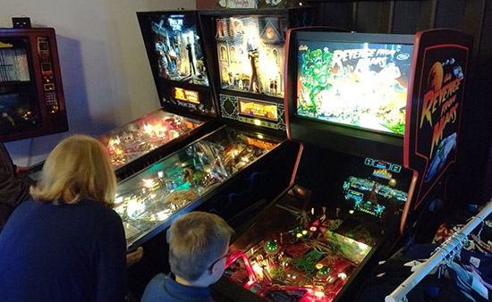 It's nearly all video games but there are three pinballs too