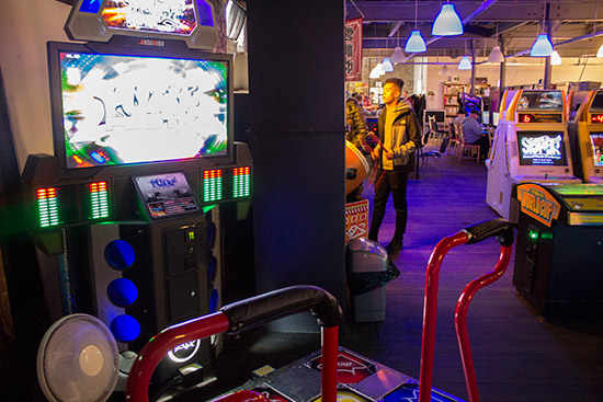 Some larger arcade games