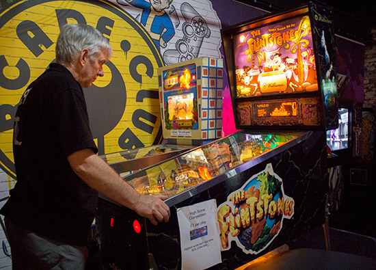 The two competition machines - Buckaroo and The Flintstones
