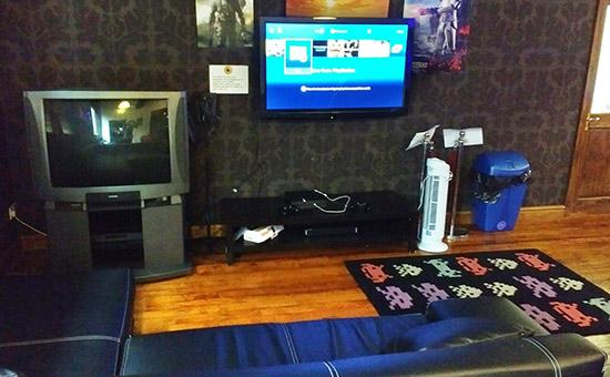 The home console area