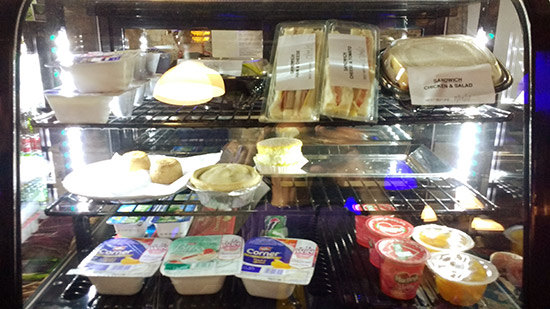 Sandwiches, yoghurts and other chilled snacks
