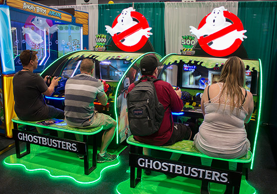 Stern weren't the only ones with Ghostbusters games as this shooter from ICE shows