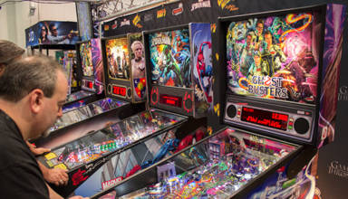 Stern Pinball's stand at Amusement Expo 2016