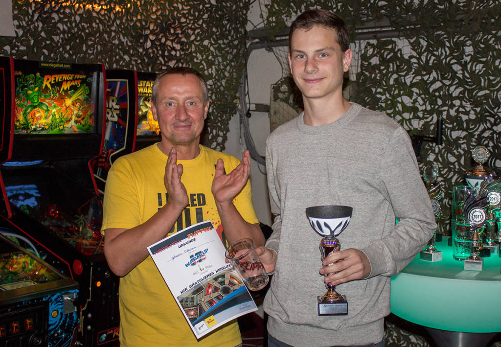 Winner of the Warm-Up Tournament, Johannes Ostermeier