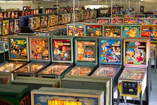 Row upon row of EM machines
