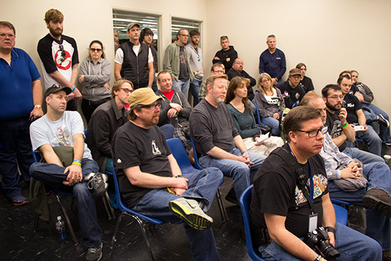 The packed seminar room
