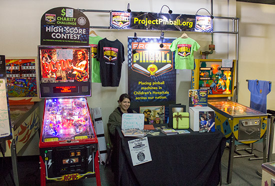 The Project Pinball stand
