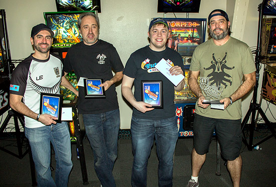 The top four in the Modern A division: Zach Sharpe, Jim Belsito, Raymond Davidson and Keith Elwin