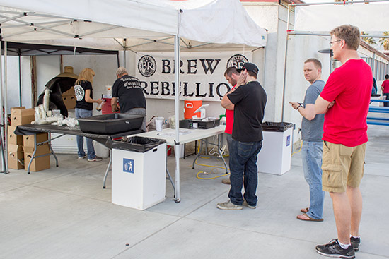 Local brewer, Brew Rebellion, had a stand here too