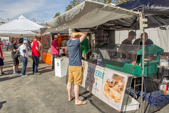 Crepes and grilled cheese sandwiches available here