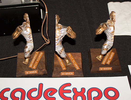 Trophies for the Split-Flipper and One -Handed tournaments