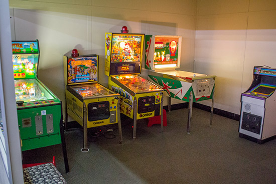 The kids games room