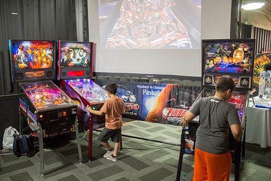 The Pinball Arcade stand
