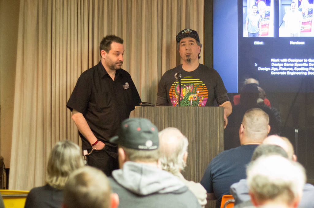 Mike and Mark talk about the different roles needed to create a pinball machine